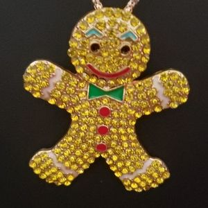 NWT Crystal  Gingerbread Man by Betsey Johnson